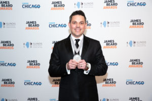 Kevin Nashan Of Sidney Street Café Accepts The Best Chef Midwest Award May 1 2017 At James Beard Foundation Annual Awards In Chicago